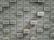 Cabinas del archivo con los ficheros Foto de archivo libre de regalías
