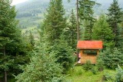 Cabinas del bosque Imagen de archivo libre de regalías