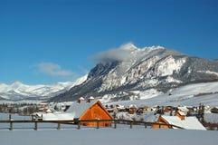 Cabinas del invierno Imagenes de archivo