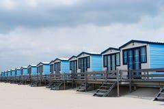 Cabinas en la playa Imagenes de archivo
