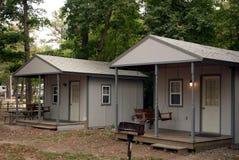 Cabinas que acampan Fotografía de archivo libre de regalías