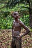 CABINDA/ANGOLA - 09 2010 JUN - portret Afrykański wiejski rolnik Cabinda Angola Zdjęcie Royalty Free