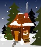 Cabine acolhedor do inverno Fotografia de Stock