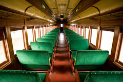 Cabine antique de train Image libre de droits
