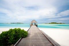 Cabine bienvenue dans les tropiques Image stock