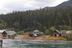 Cabine Carcross - il Yukon - nel Canada immagini stock libere da diritti