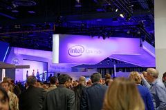 Cabine CES 2014 de convention d'Intel Photo stock