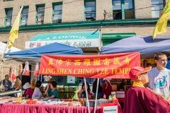 Cabine Chinatown Seattle de Ling Shen Ching Tze Temple photo libre de droits