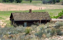Cabine com telhas de madeira Imagem de Stock Royalty Free