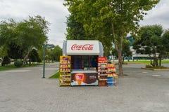 Cabine commerciale sur le boulevard de Bakou Images stock