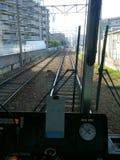 Cabine d'opérateur de train Photo stock