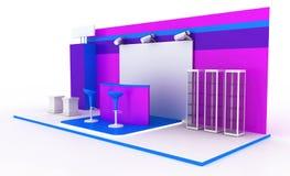Cabine da exposição no branco Fotos de Stock