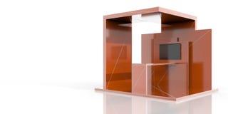 Cabine da exposição no branco Imagens de Stock