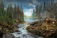 A cabine da guarda florestal imagens de stock royalty free