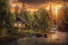 A cabine da guarda florestal foto de stock royalty free