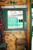 Cabine da locomotiva de vapor Fotos de Stock