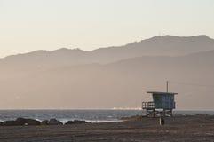 Cabine da salva-vidas na praia de Veneza Fotografia de Stock Royalty Free