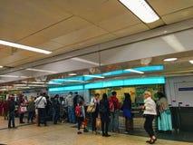 Cabine de bilhete da estação de metro de França Foto de Stock