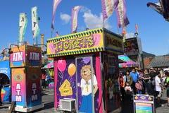 Cabine de bilhete em um carnaval Foto de Stock Royalty Free