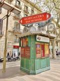 Cabine de billet à Barcelone, Espagne - pour le musée de cire Photographie stock libre de droits