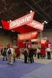 Cabine de Colgate lors de la réunion dentaire plus grande de NY à New York Photo libre de droits