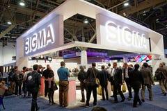 Cabine de convention de sigma à CES Image libre de droits