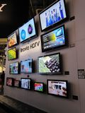 Cabine de convention de Sony à CES 2010 photographie stock libre de droits