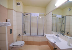 Cabine de douche de salle de bains Photographie stock