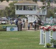 Cabine de juges chez Del Mar Horse Show Images stock