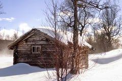 Cabine de l'hiver image stock