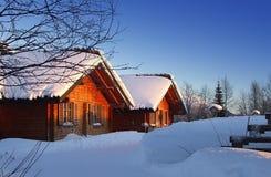Cabine de la Laponie image stock