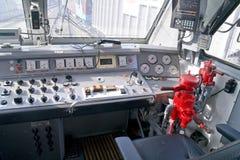 Cabine de locomotive électrique photos libres de droits