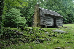 Cabine de logarithme naturel des Appalaches Photographie stock libre de droits
