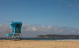 Cabine de maître nageur d'île de Coronado Image libre de droits