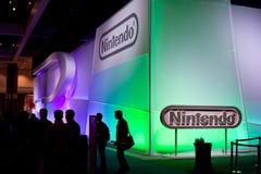 Cabine de Nintendo no E3 2011 fotografia de stock royalty free