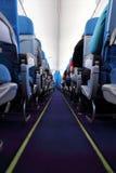 Cabine de passageiro do avião Foto de Stock Royalty Free