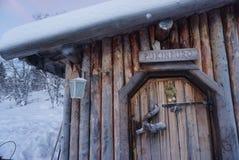 A cabine de Santa Fotografia de Stock Royalty Free