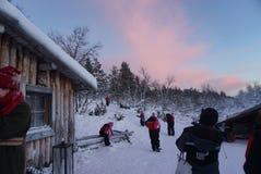 A cabine de Santa Imagem de Stock