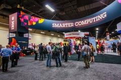 Cabine de Smart que computa na borda 2013 do IBM da exposição Imagens de Stock