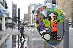 Cabine de téléphone à Sao Paulo Photos libres de droits