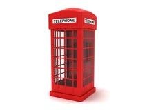 Cabine de téléphone Images stock