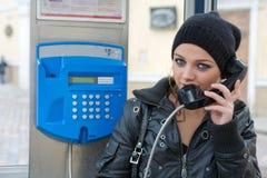 Cabine de téléphone Photos libres de droits