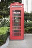 Cabine de téléphone anglaise Photo libre de droits