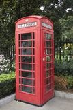 Cabine de téléphone anglaise Image libre de droits
