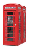 Cabine de téléphone anglaise classique image stock