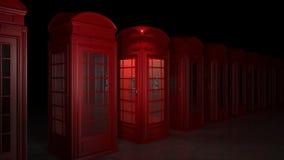 Cabine de téléphone britannique à Londres Photographie stock