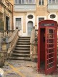 Cabine de téléphone britannique pas en Grande-Bretagne Images libres de droits