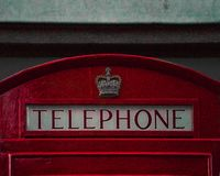 Cabine de téléphone de Wien photo stock
