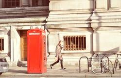 A cabine de telefone, Fotografia de Stock