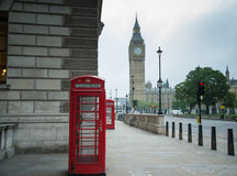 Cabine de telefone em Londres Imagens de Stock